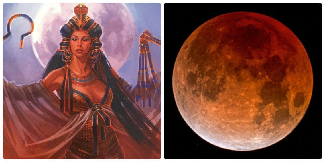 изида и лунно затъмнение